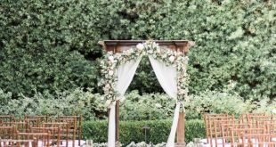 The Prettiest Dusty Purple Garden Wedding