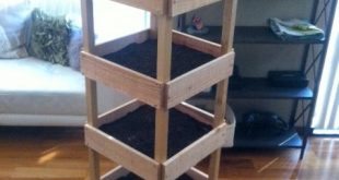 Balcony Gardening! Made this vertical planter box.. cant wait until late April w...