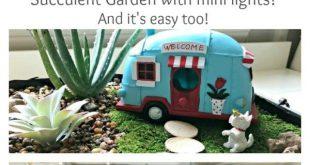 Fun Vintage DIY Indoor Fairy Garden Idea