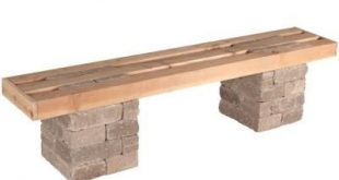 Pavestone RumbleStone 72 in. x 17.5 in. x 14 in. Concrete Garden Bench Kit in Sierra Blend