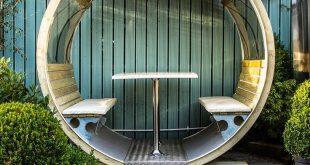 Unique Garden Wheel Bench