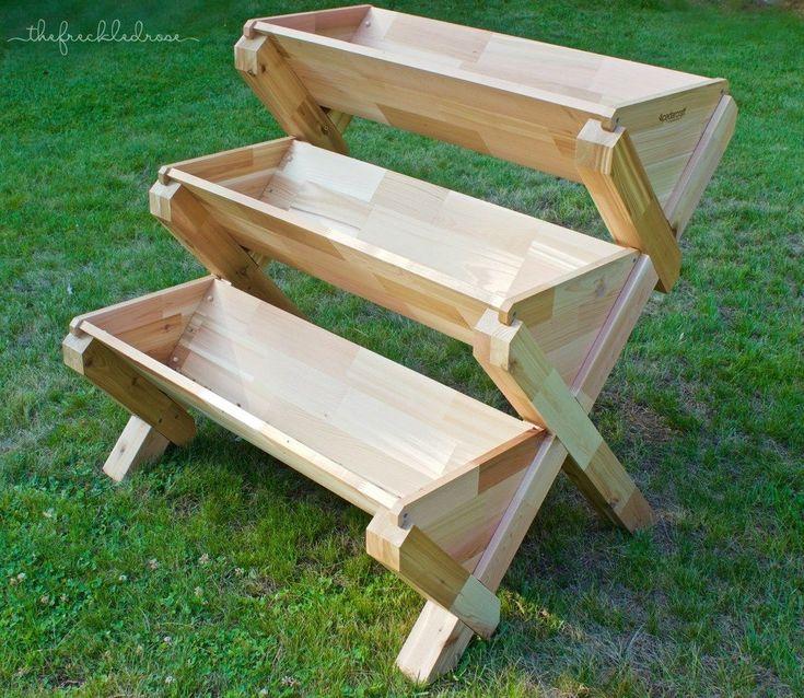 50 DIY Corner Wood Planter Raised Garden Bed - Garden Diy