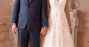 Garden-Inspired A-Line Wedding Dress