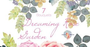 Watercolor Dreaming Rose Garden Bouquet Flowers Hand Painted, Floral, Wedding Invitation, Greeting