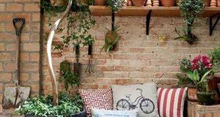 23 Einfach zu verwaltende Ideen Ein kleiner Sitzbereich im Hinterhof
