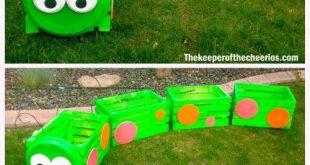 DIY Caterpillar Holzkiste Train Planter Tutorial mit Video