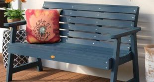 Darby Home Co Berry Synthetic Wood Garden Bench