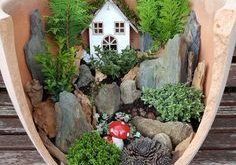 Eine andere Variante ist einen Märchengarten anzulegen.
