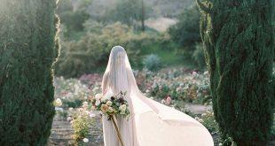Ethereal Spring Rose Garden Wedding Shoot