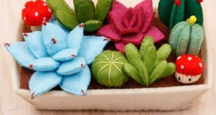Felt cactus DIY kit, pre-cut felt succulent garden DIY kit, pre-cut felt cactus DIY kit, handmade felt plants