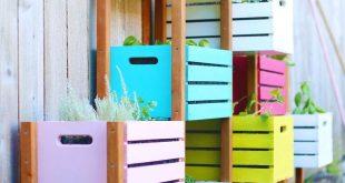 Lovely Rainbow Vertical Garden DIY