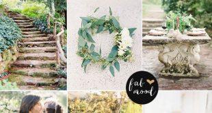 Nature garden wedding theme { Shades of green + blush + white }