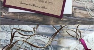 Rustikale Land Burgund Geweih Hochzeitseinladungen #Hochzeiten #Hochzeitsideen #Hochzeit