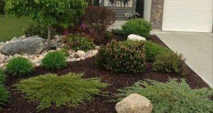 25+ Wunderschöne Vorgarten Steingarten Landschaftsgestaltung Ideen # Gartenbau # Gartenbau