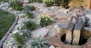 35 Kreative Steingarten-Ideen für den Hinterhof #exoticgardenideas #hinterhof ...
