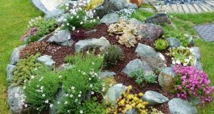 40 Beautiful Front Yard Rock Garden Landscaping Ideas