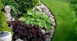 63 Wunderschöner Vorgarten im Steingarten Landschaftsideen #gardening #gardende