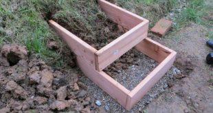 DIY-Anleitung für einfache Gartenstufen