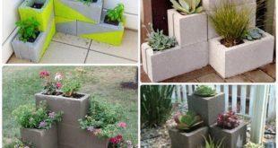 #DIY Corner Cinder Block Pflanzer-10 Einfache Cinder Block ...