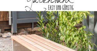 DIY - Gartenbank mit Beton und Holz