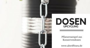 DIY-Upcycling: Aus Konservendosen wird eine Pflanzenampel. Für Kräuter in der ...