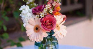 Garten Hochzeit Tisch Einmachgläser, #einmachglaser #garten #hochzeit #tisch