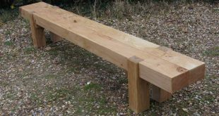 Long 2 Beam Garden Bench 2