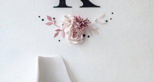 Misty Rose Paper Flower Art - Kinderzimmer Wand Dekor mit Papierblumen - Papier Blumen Wand Dekor