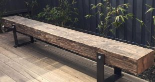 One of our bench seats looking good in its new home. These timbers were original...