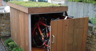 Tolle Idee für einen Fahrradschuppen! Muss aber abschließbar sein