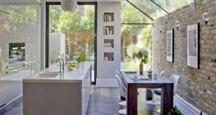 Wow this kitchen with skylights and garden views is so so perfect! #kitchen #kit...